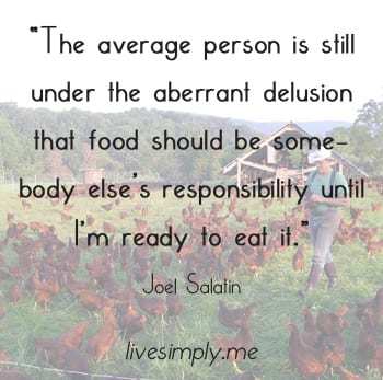 The average person is still under the aberrant delusion that food should be somebody else responsibility until I'm ready to eat it.