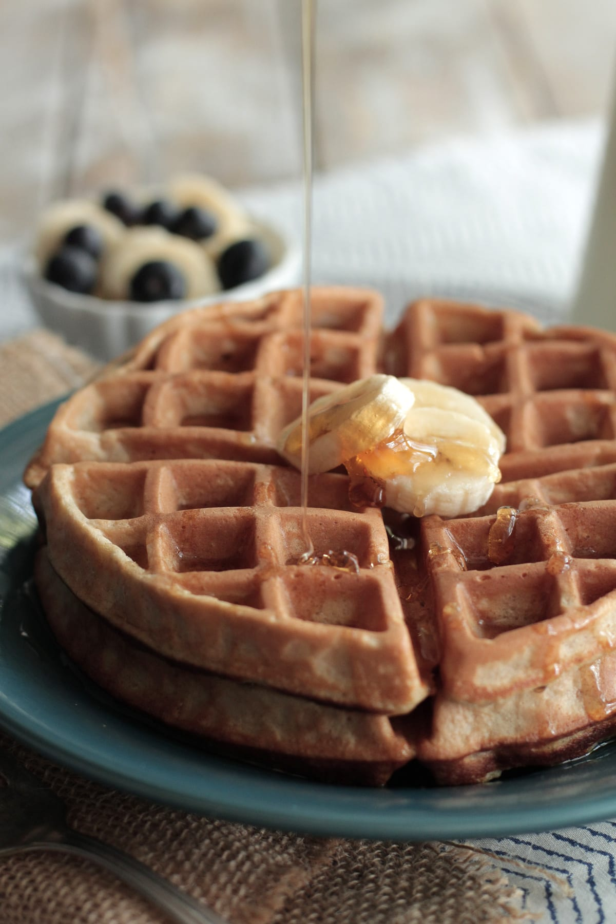 gluten free oat waffles soaked