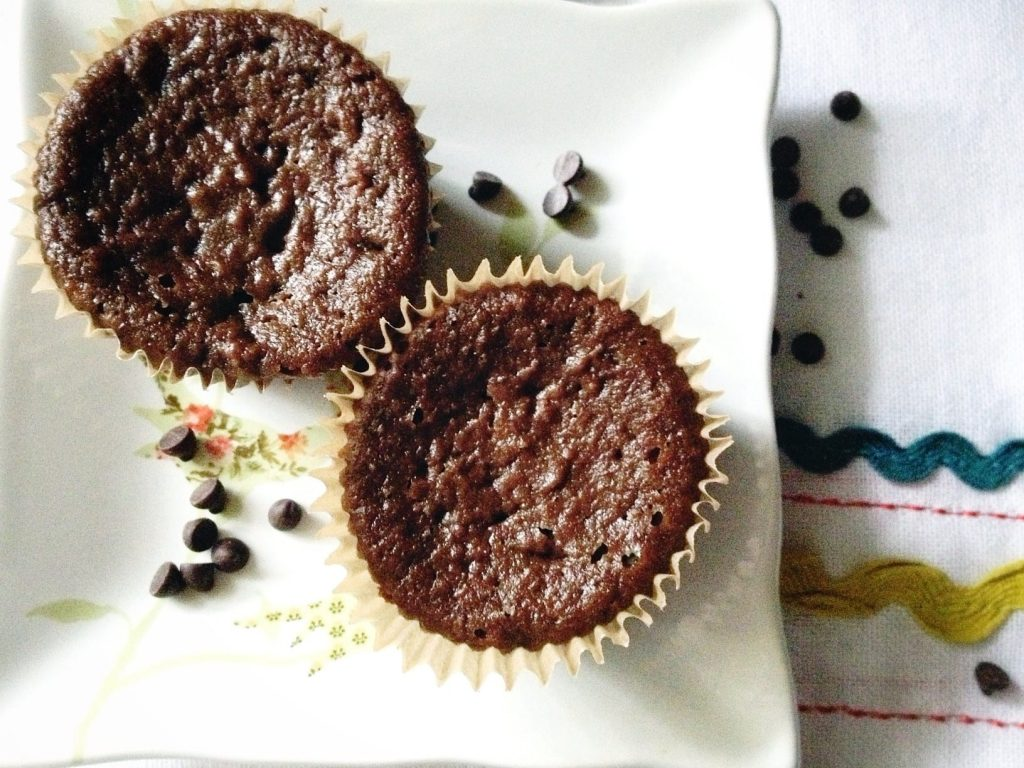 Soaked Double Chocolate Banana Muffins