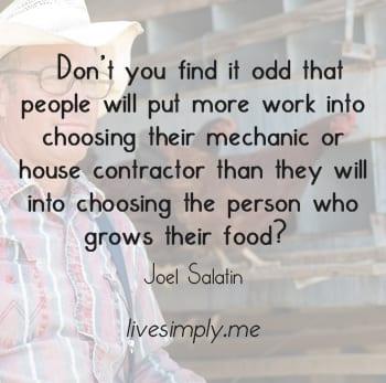 Joel Salatin quote