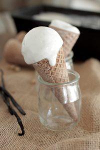The BEST homemade vanilla bean ice cream