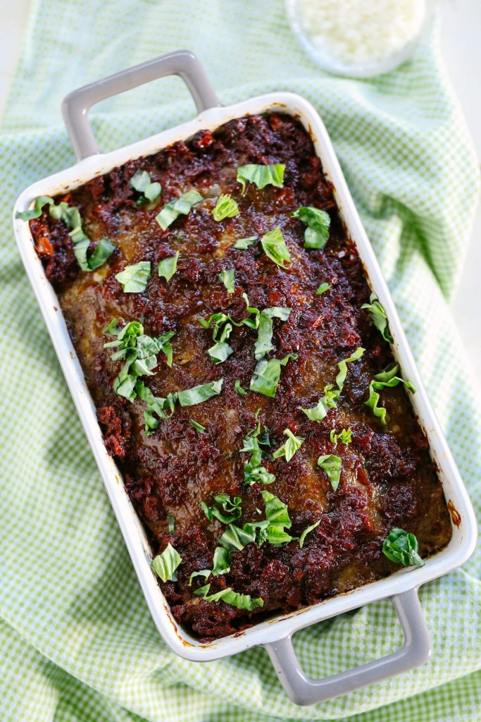 Sundried Tomato and Herb Meatloaf. If you're not a meatloaf fan, this recipe will change your mind! It's the best meatloaf I've ever made.
