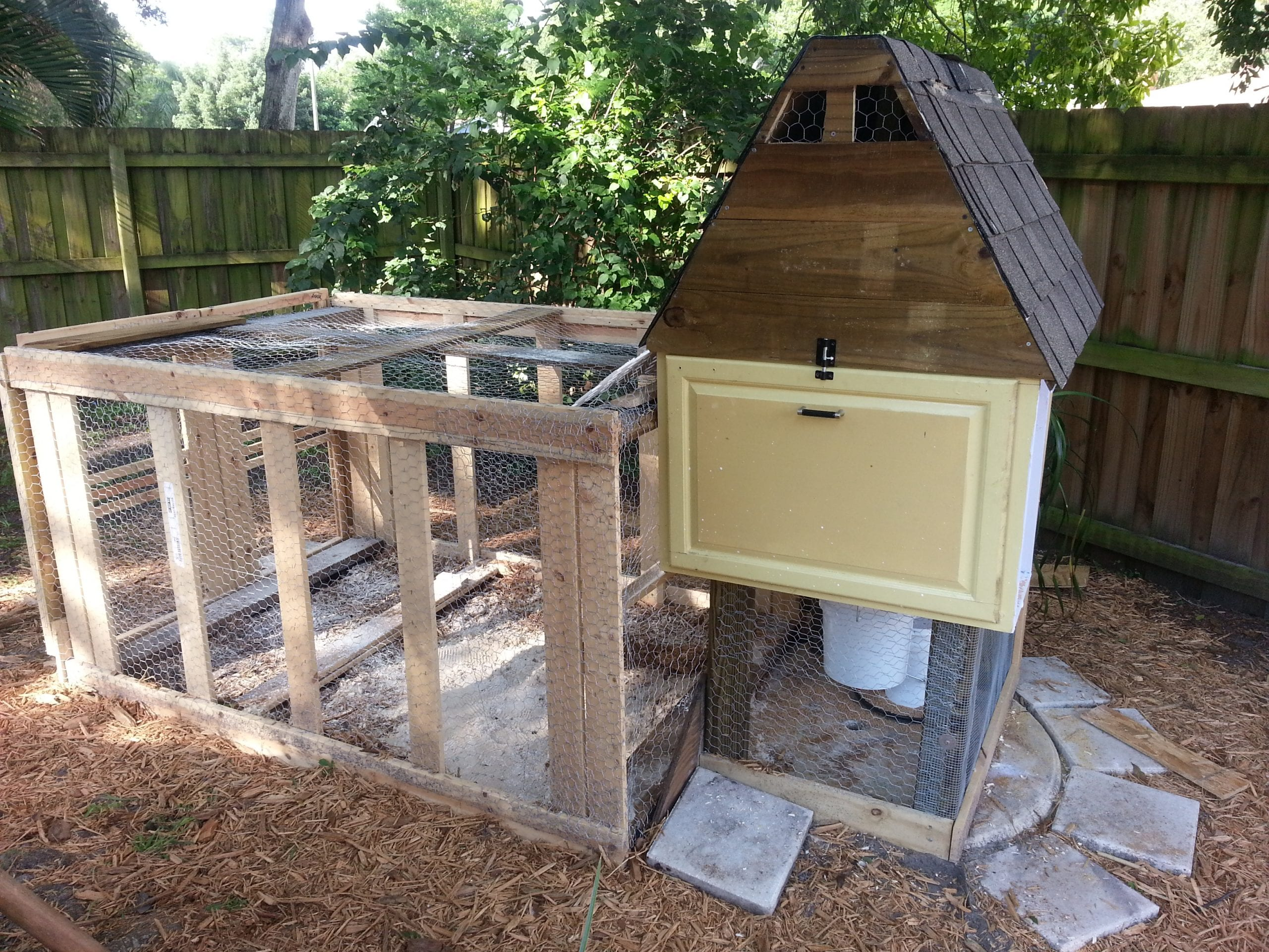 How to build a chicken coop for less than 50 live simply for Cheapest way to roof a house