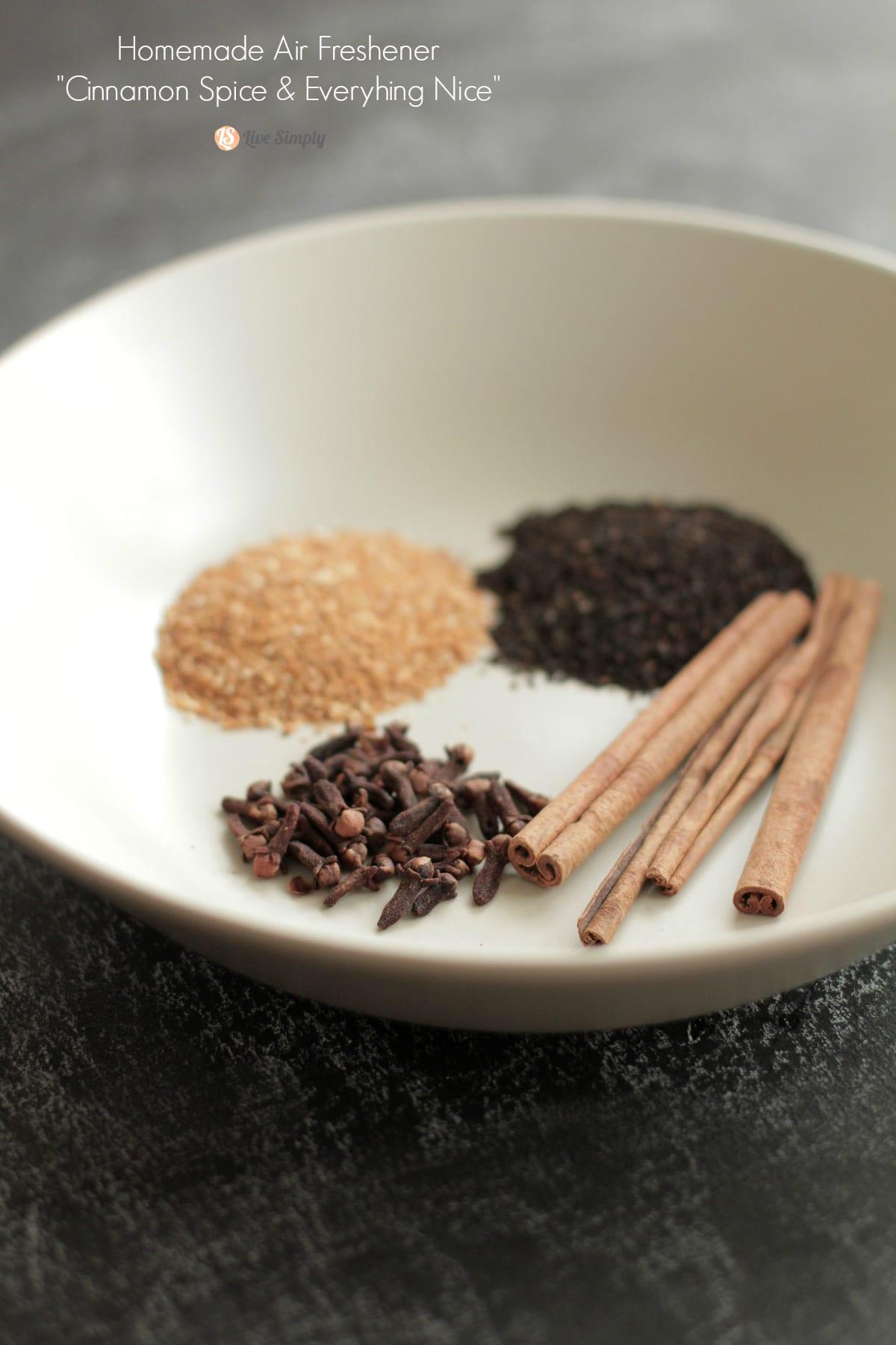 homemade cinnamon air freshener