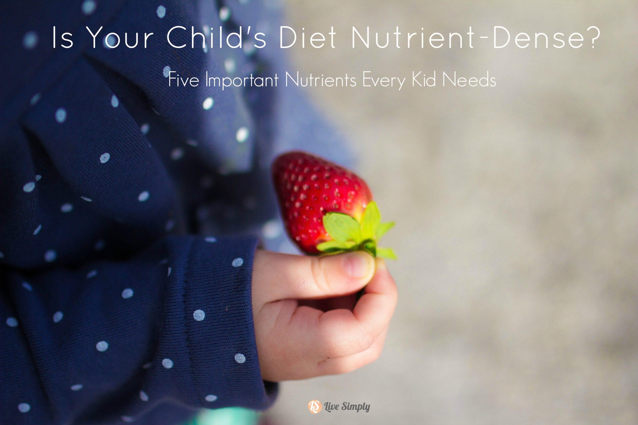 kids diet nutrient dense