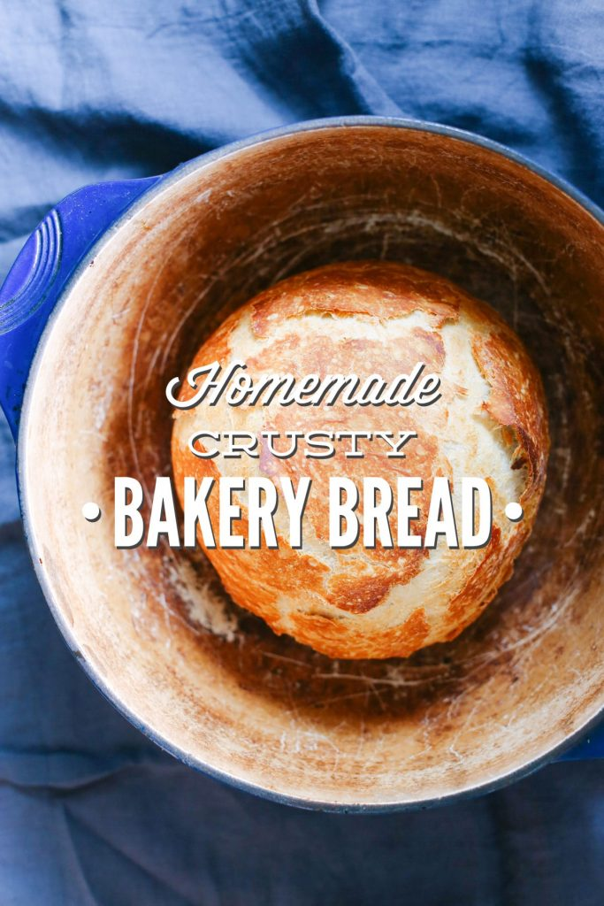 Homemade Crusty Bakery Bread - The easiest, tastiest bread you'll ever make!!