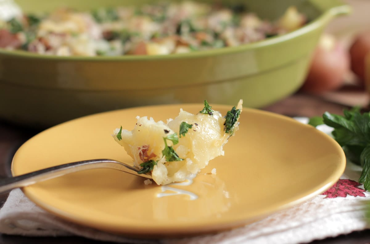 cheese and herb potatoes