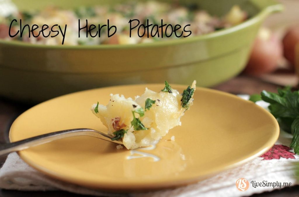cheesy herb potatoes