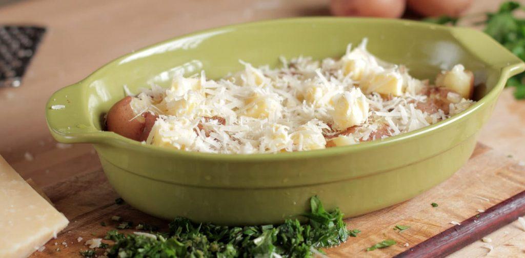 cheesy herb potatoe