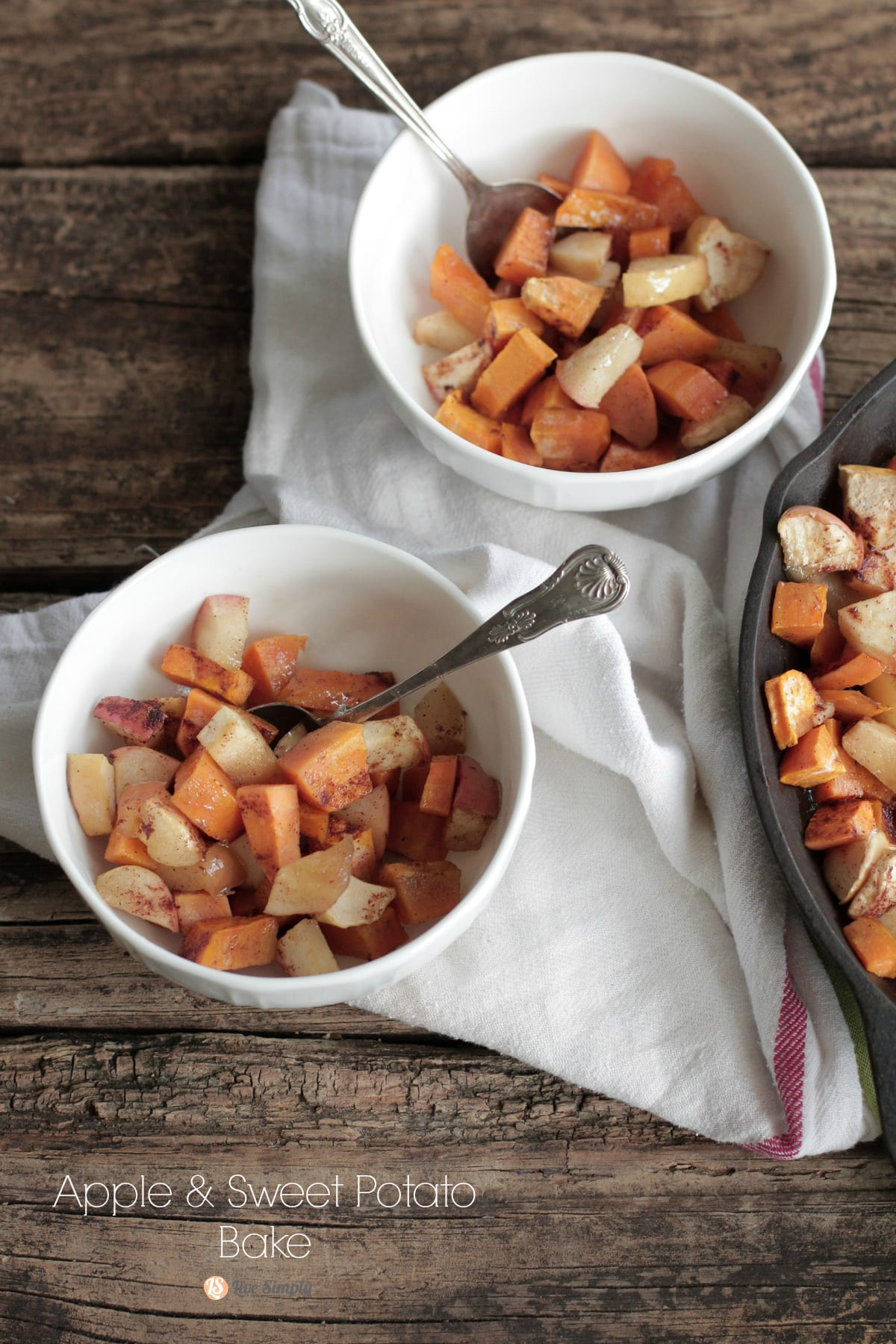 This is so yummy, so easy, and only real ingredients! Apple and Sweet Potato Bake