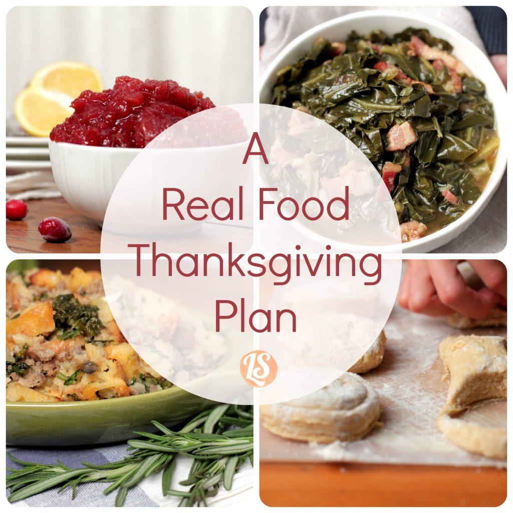 A Real Food Thanksgiving Plan
