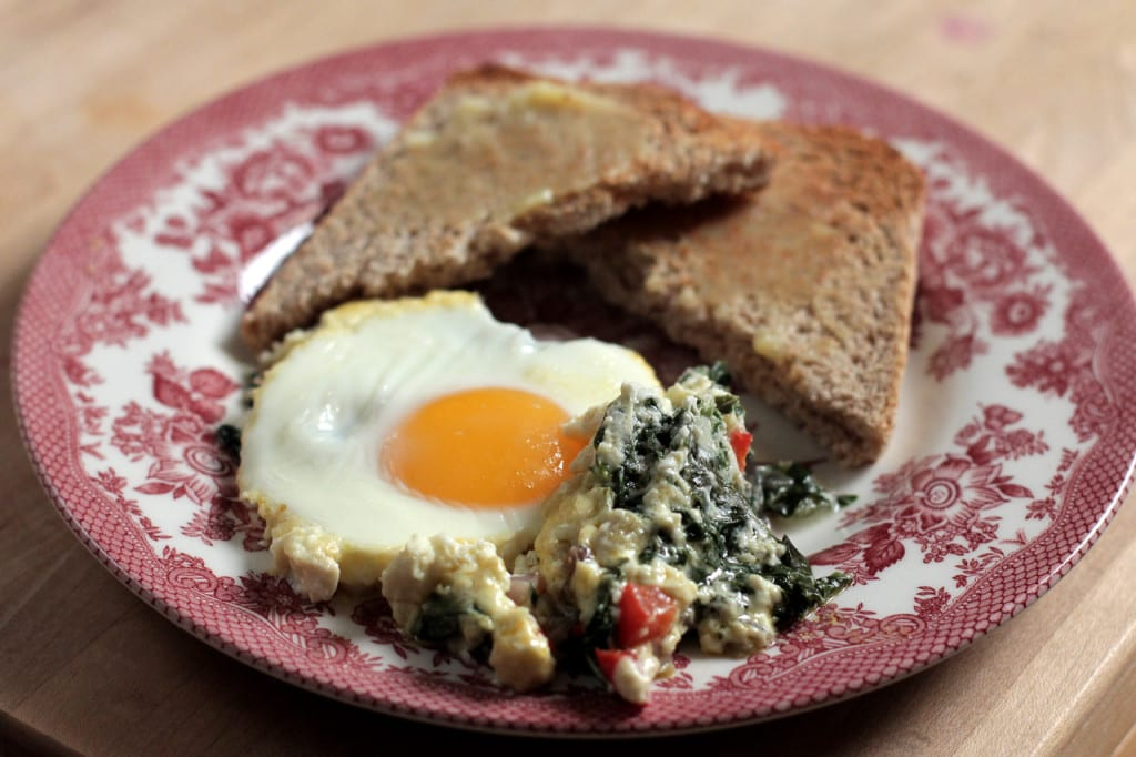 Creamy Swiss Chard and Eggs