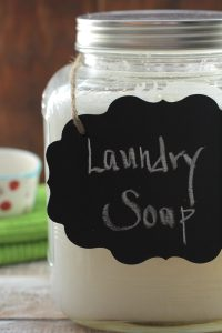 Homemade Liquid Laundry Soap All Natural