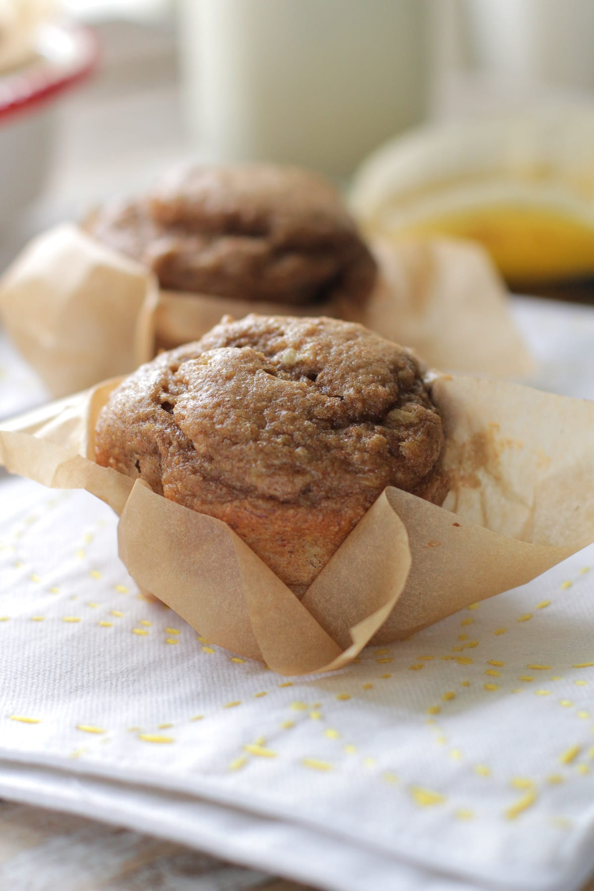 Whole Wheat Banana-Nut Muffins