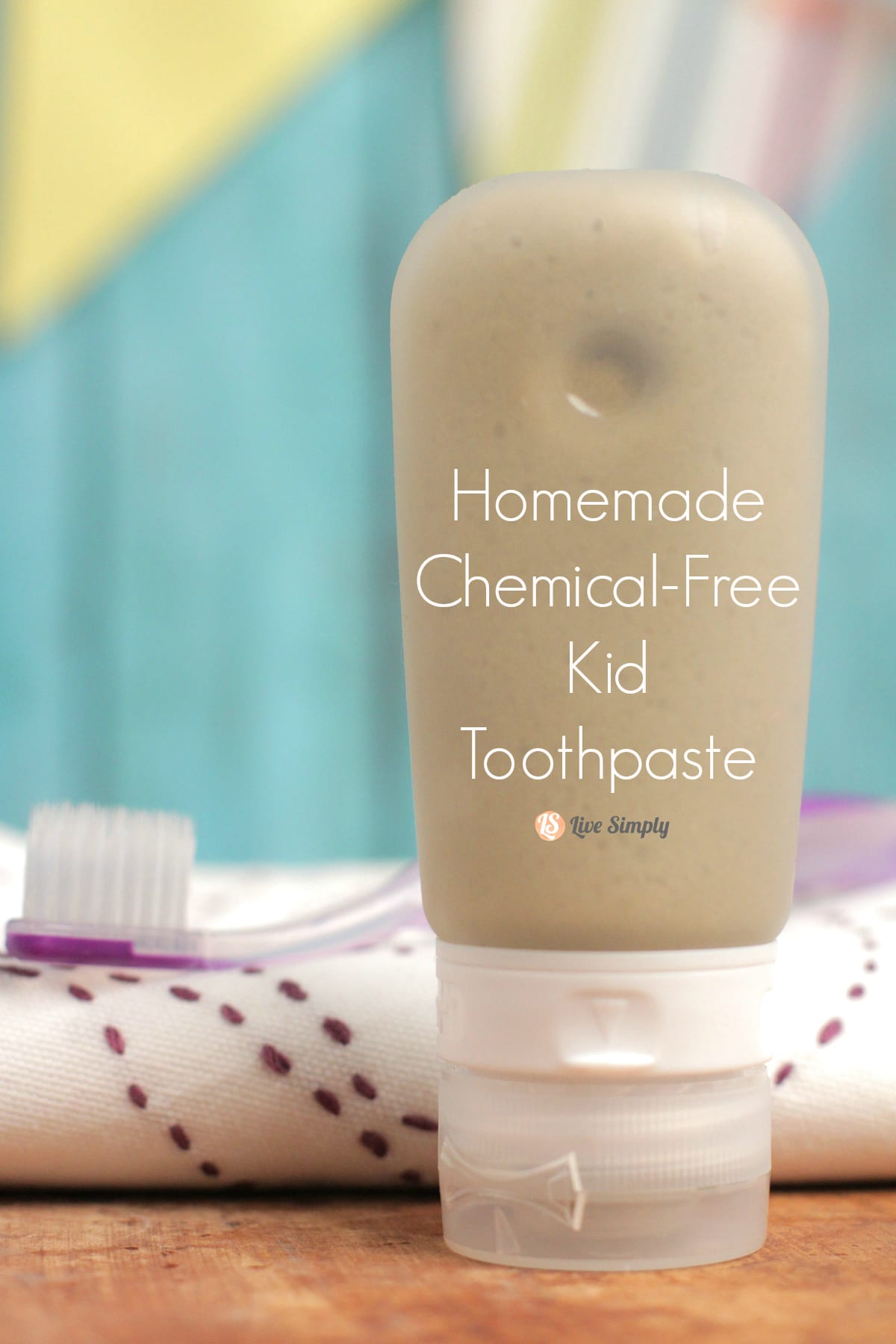 Homemade Chemical-Free Kid Toothpaste. A homemade toothpaste for kids. Homemade kid toothpaste