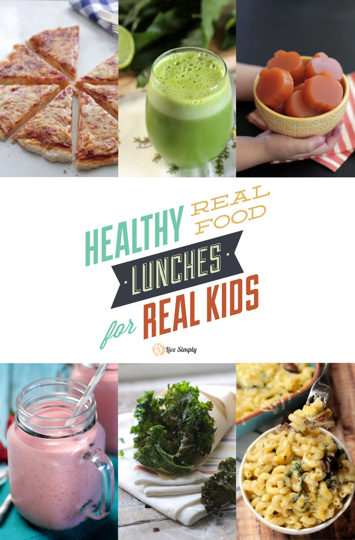 Healthy real food lunches for real kids over 50 recipe ideas live over 60 recipes and ideas for creating healthy real food lunches for kids from kid forumfinder Gallery
