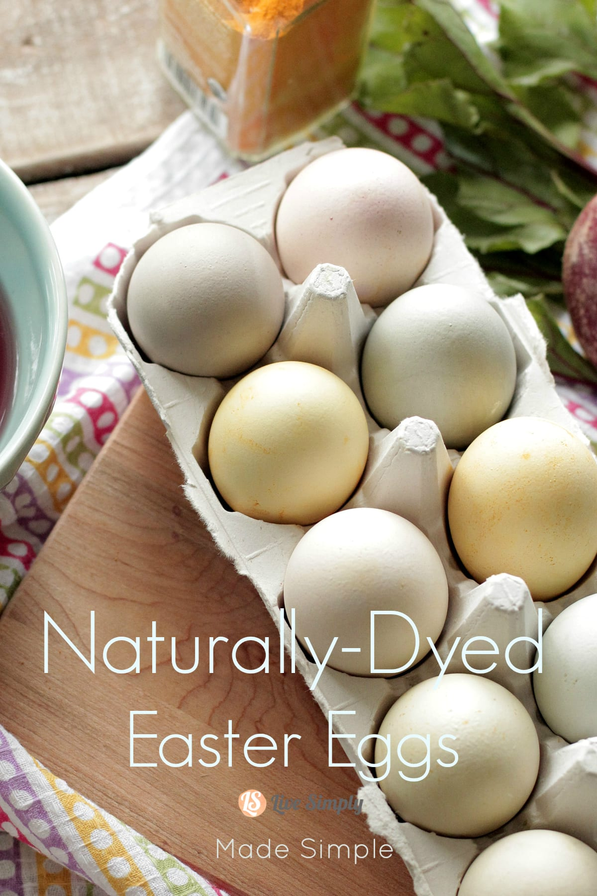 Simple Naturally Dyed Easter Eggs - Live Simply