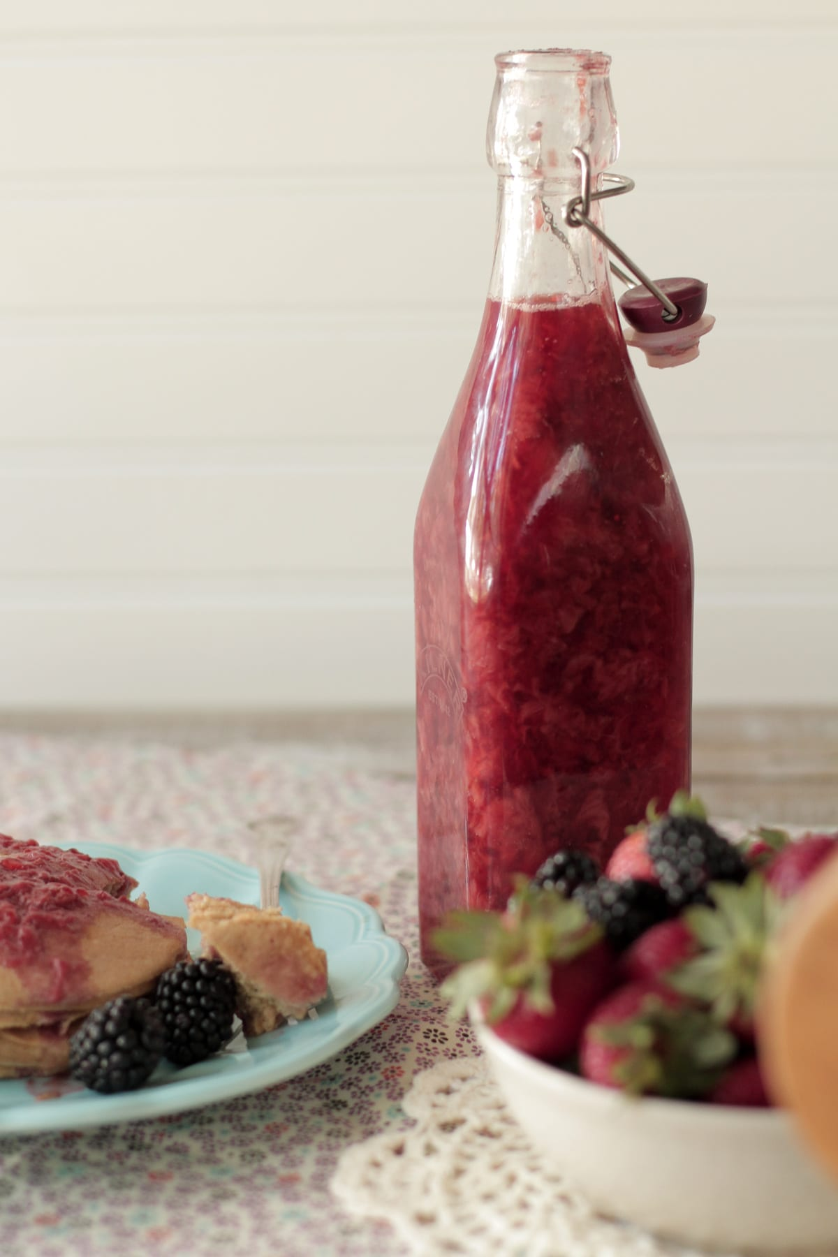 simple homemade strawberry syrup or jam
