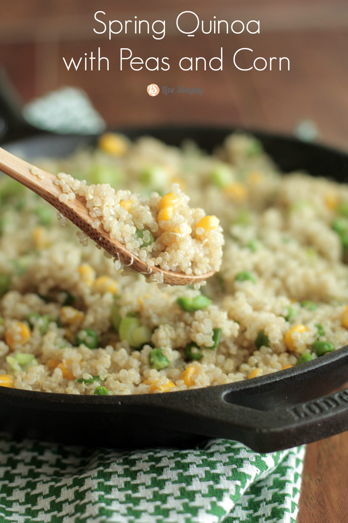 Quinoa with peas and corn live simply spring quinoa with peas and corn live simply forumfinder Image collections