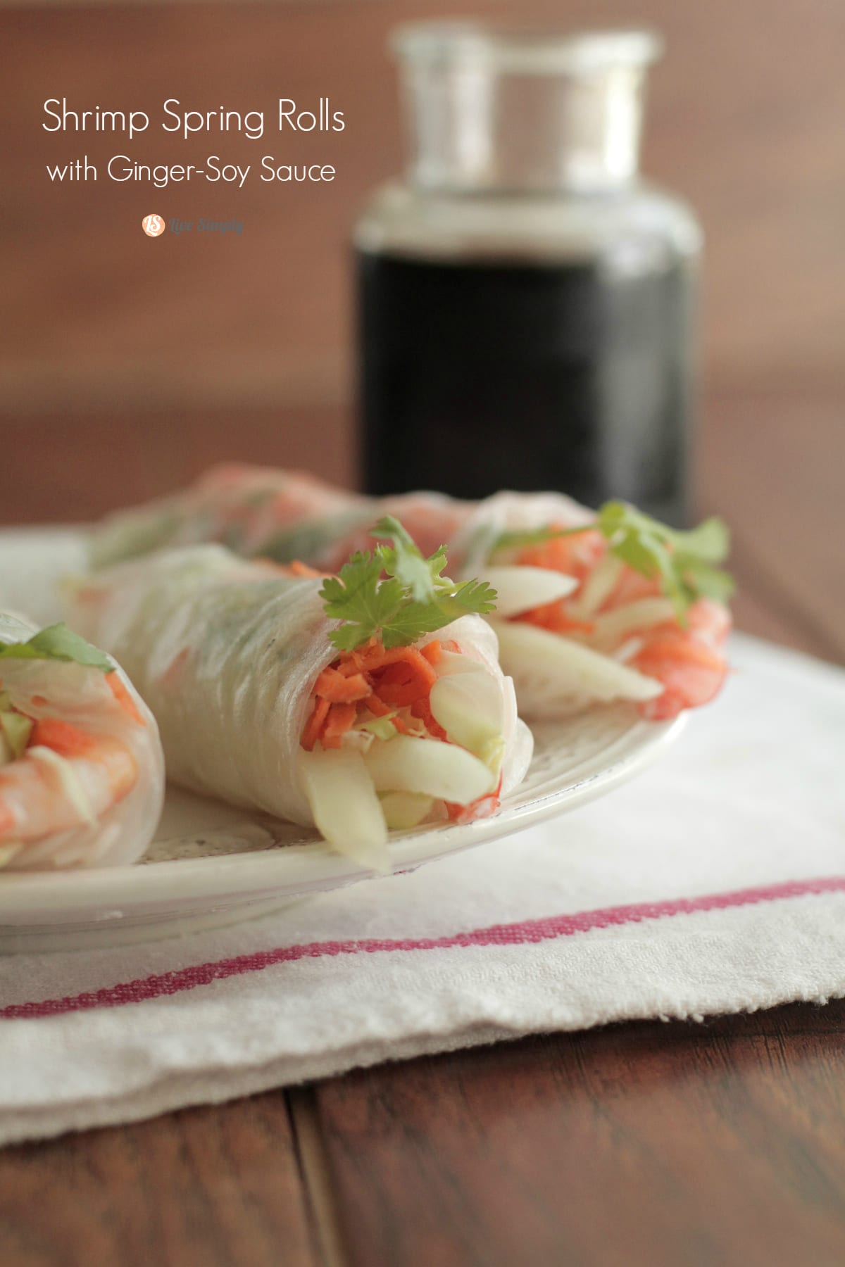 Shrimp Spring Rolls With Ginger Soy Dipping Sauce Live