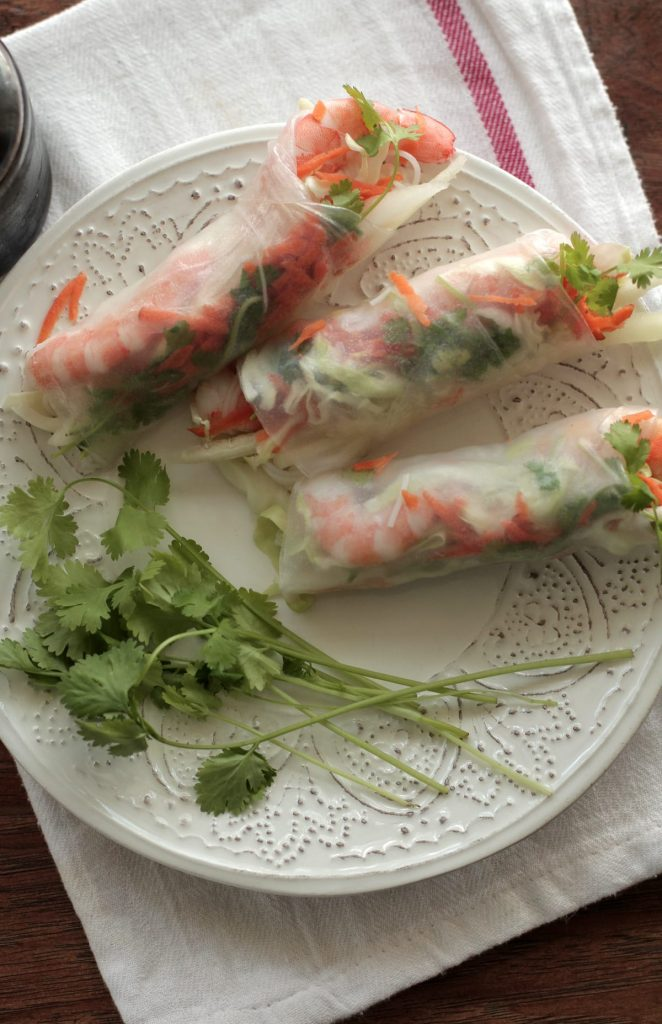 Shrimp Spring Rolls with Ginger-Soy Dipping Sauce - Live Simply