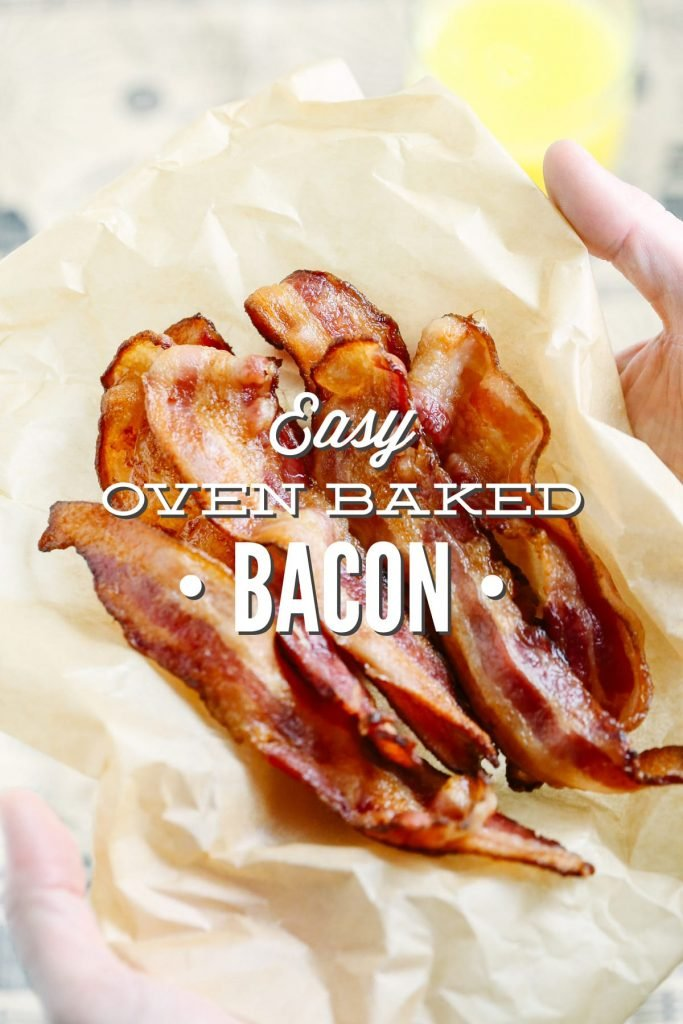 The BEST way ever to cook bacon. No grease splatters. No grease spills. Perfectly crispy bacon every single time. I won't ever go back to cooking bacon on the stove-top or griddle. So easy! Oven-baked bacon is the way to go.