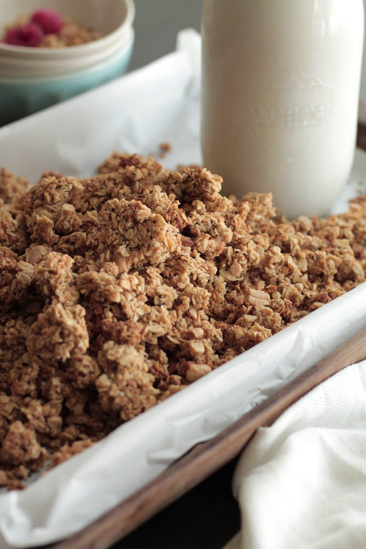 peanut butter coconut granola homemade recipe