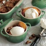 Simple Summer Peach Rosemary Crisp
