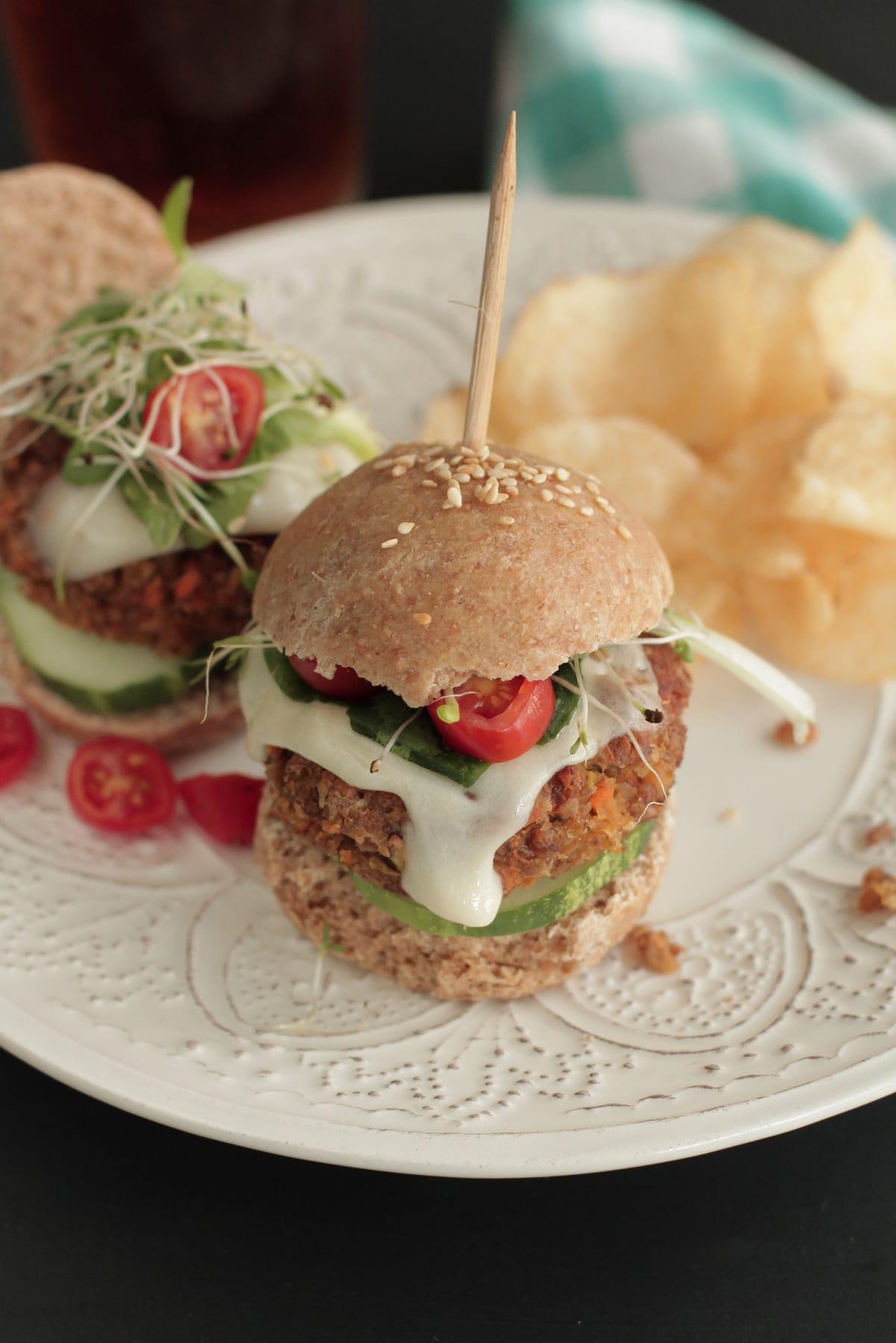 bulgur veggie burger sliders