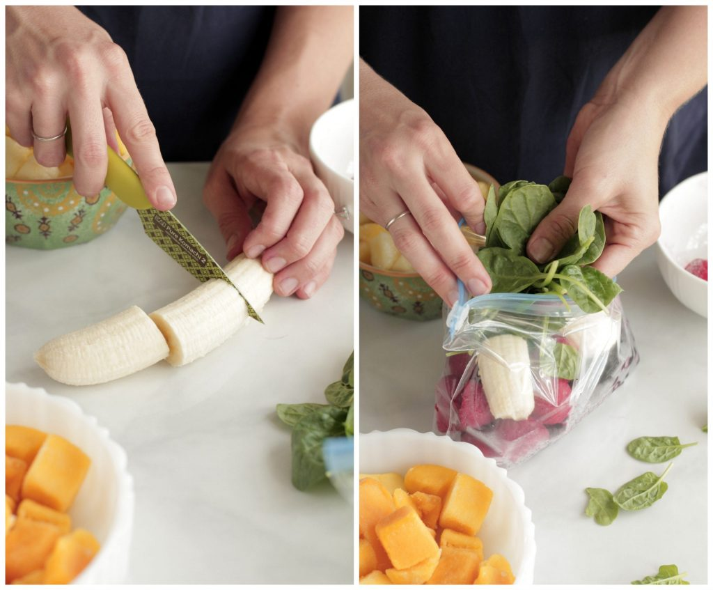 DIY Freezer Smoothie Packs and Smoothie Recipes. Save money and time with homemade freezer packs. Simply freeze and add the ingredients to the blender. A healthy homemade smoothie can be enjoyed in just seconds. These are great for older kids and teens who can make their own snack too.