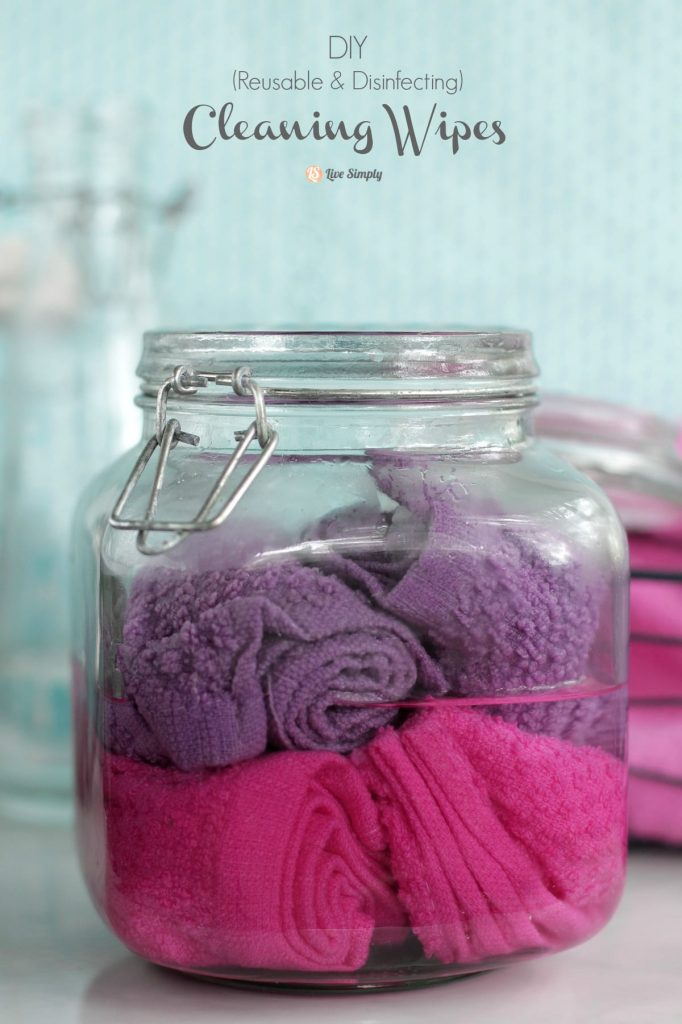 DIY Cleaning Wipes (Reusable & Disinfecting). Save money and clean naturally! Plus, you can use these as homemade swiffer pads. Genius!