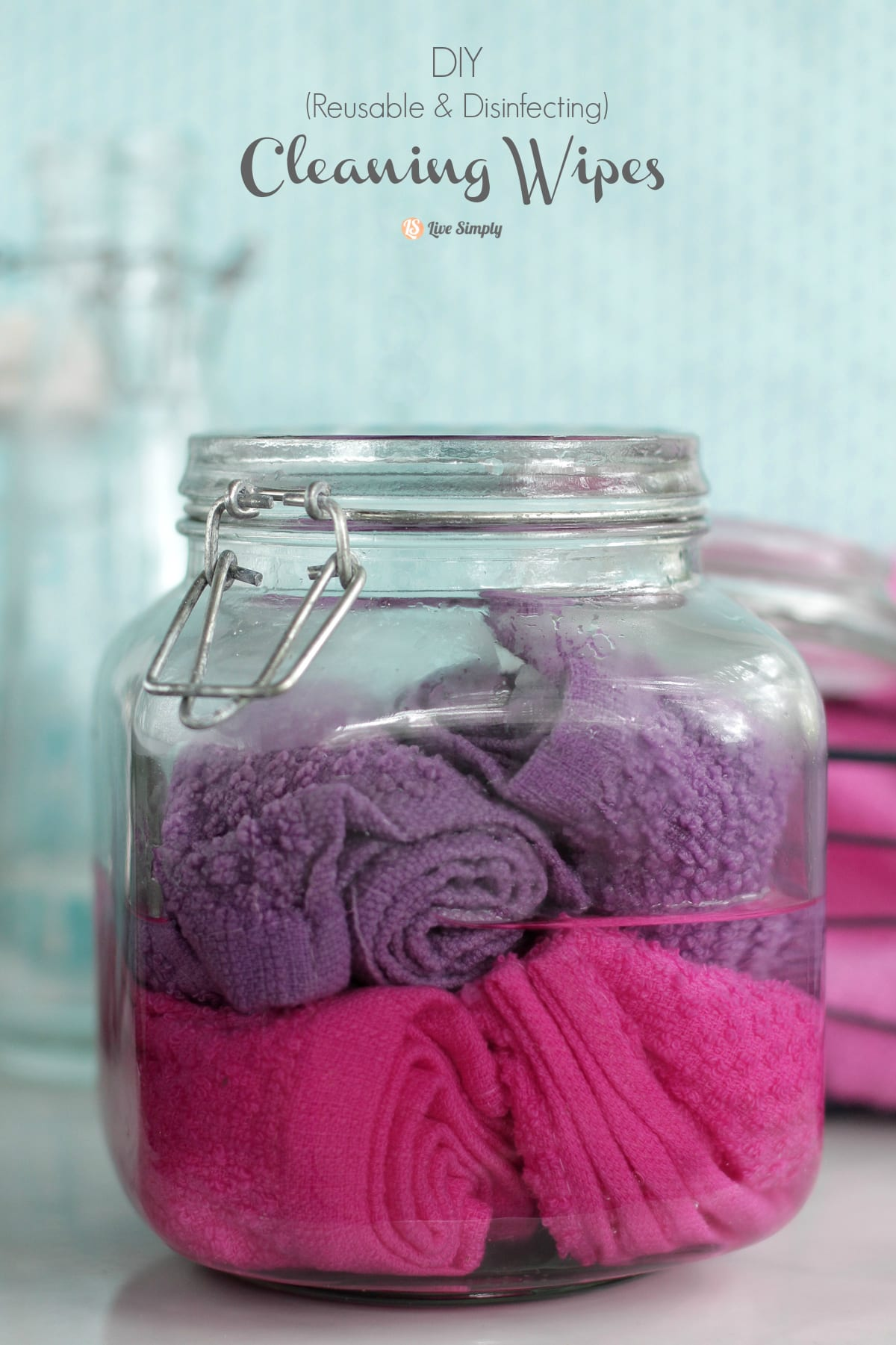 DIY Reusable cleaning wipes