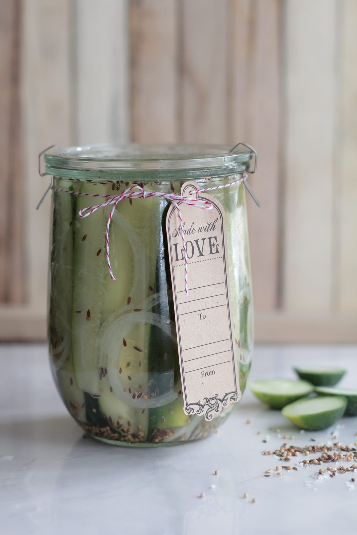 Let's just get to those amazing homemade refrigerator pickles ...
