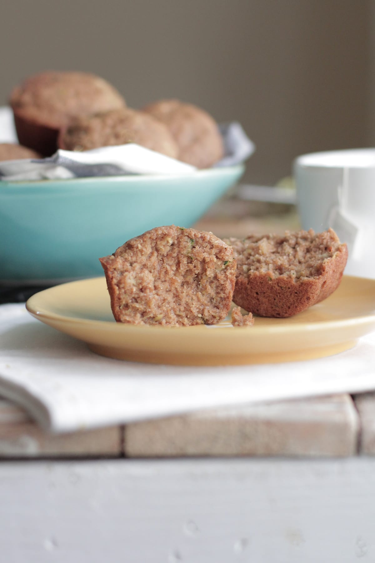 The best way to use zucchini!! These whole grain chai zucchini muffins are sooo good!
