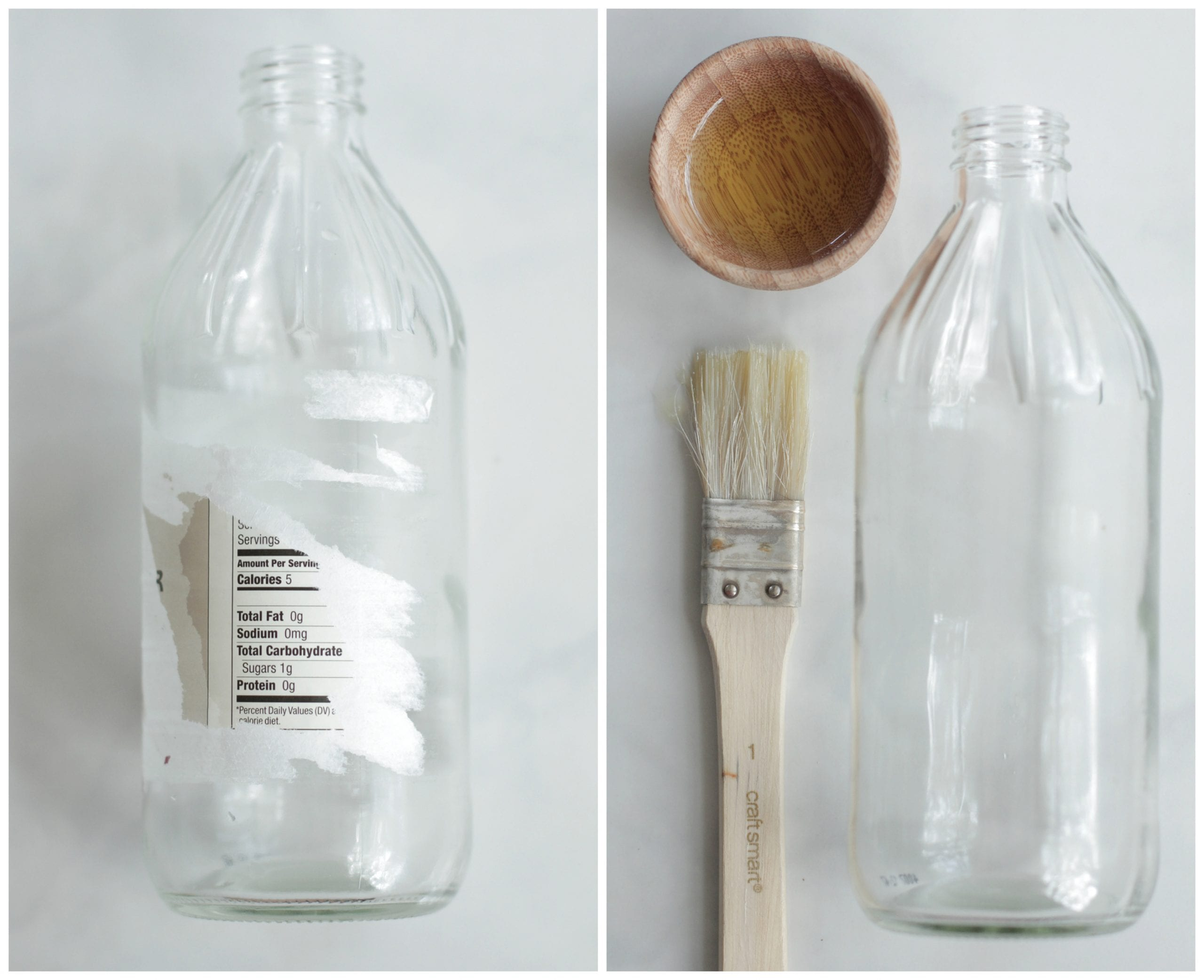 DIY Painted Spray Bottle. No need to have boring, plain bottles when cleaning! Make your bottles pretty by painting them.