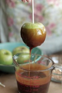 Homemade Caramel apples real food style