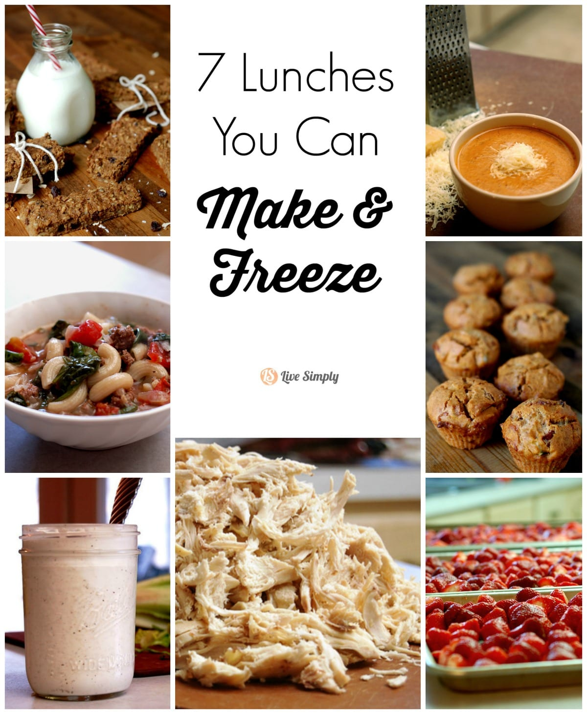 So many awesome ideas for freezing lunches that go beyond the sandwich! 7 Lunches You Can Make and Freeze