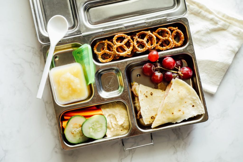 Quesadillas from the freezer in the lunchbox