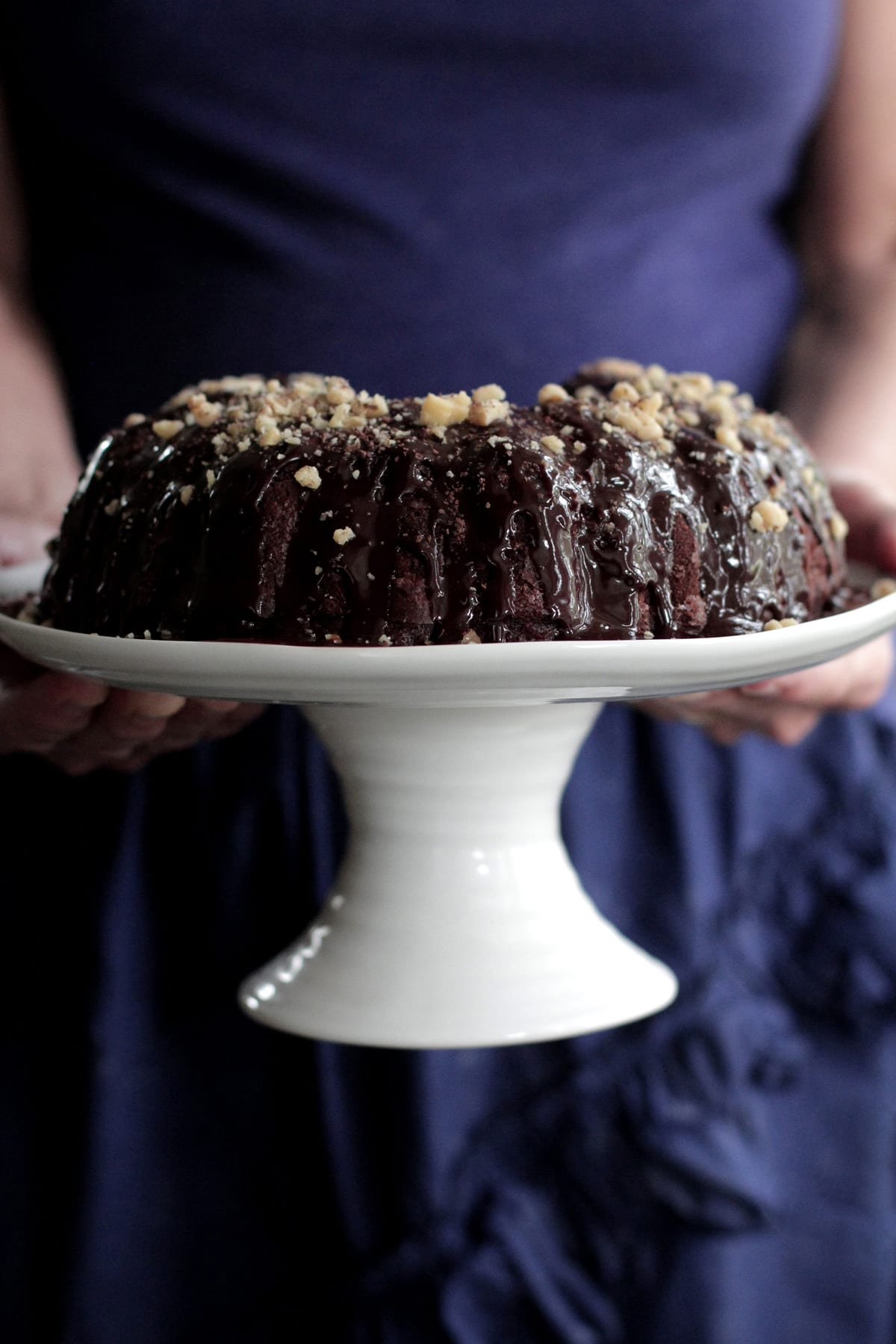 Chocolate Bundt Cake with Zucchini and Walnuts + A Baking Video