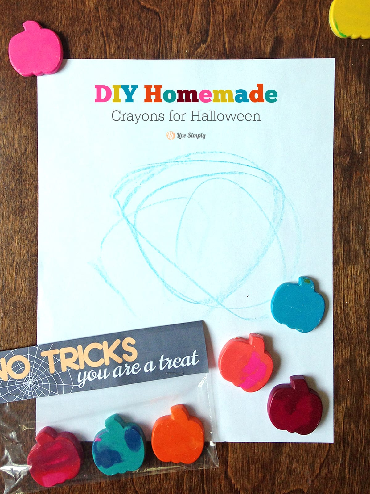 Diy Homemade Crayons For Halloween Printable Live Simply