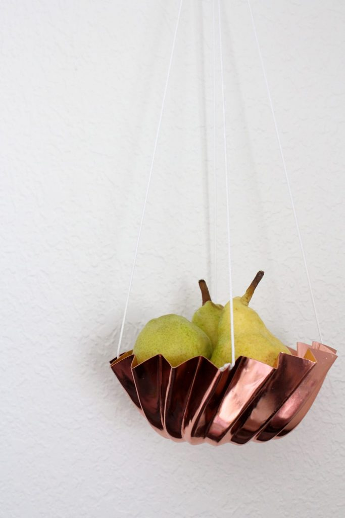 DIY Hanging Produce Basket for all your fruit and it only costs pennies to make!!