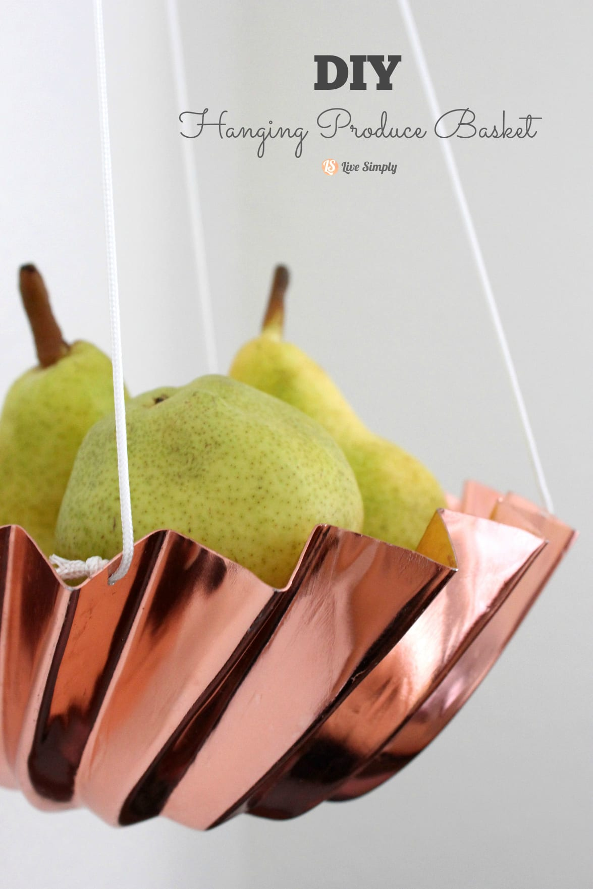 DIY Hanging Produce Basket