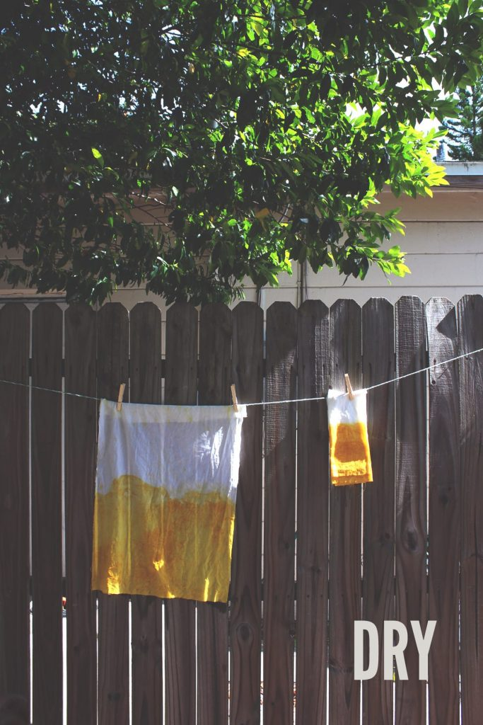 DIY No-Sew Natural Dye Hand Towels and Napkins