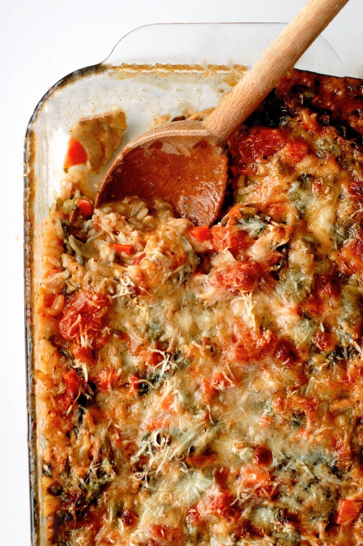Italian Spinach and Chicken Casserole