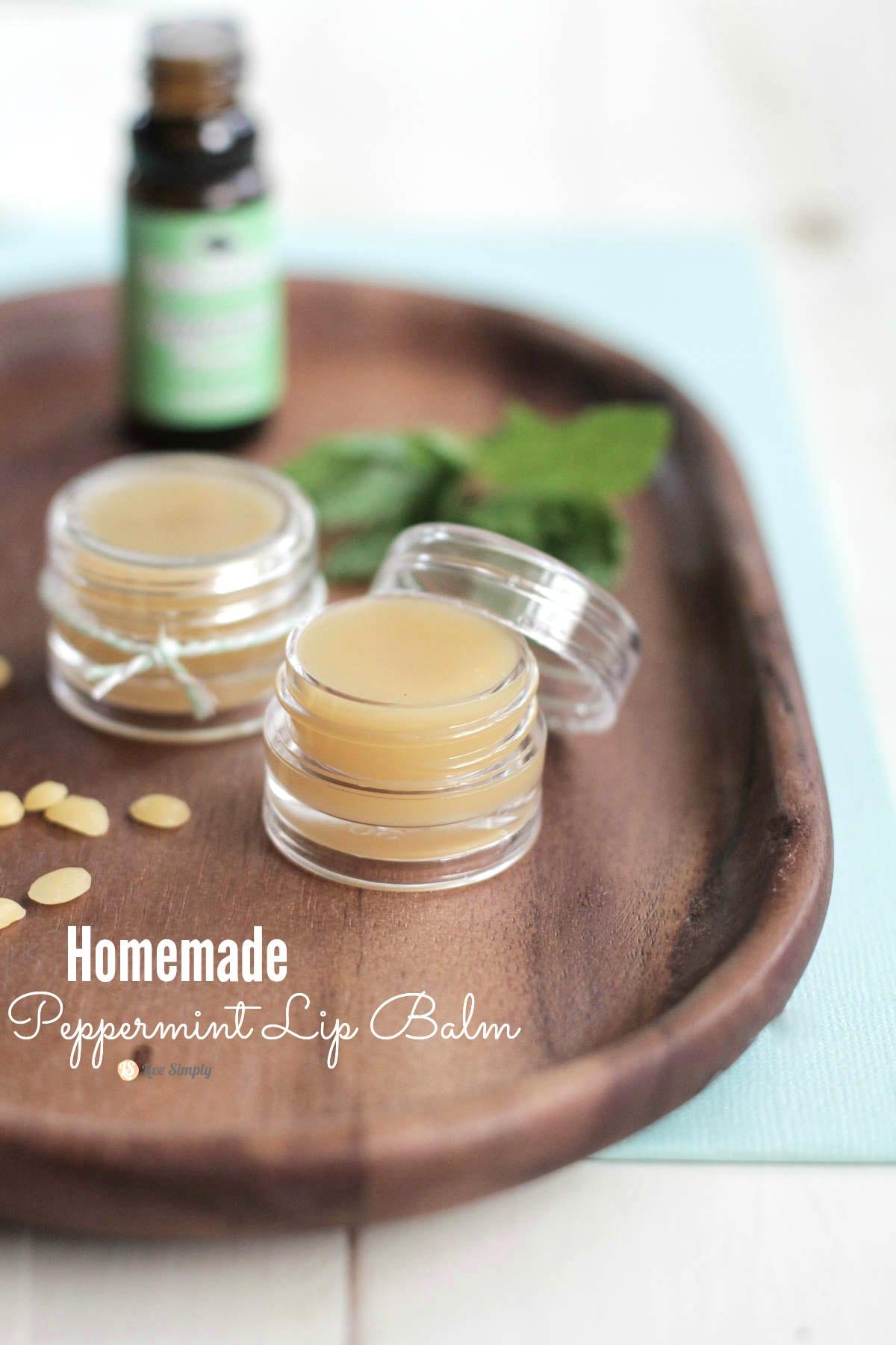 Easy Homemade Playdough Recipe: DIY Homemade Peppermint Lip Balm