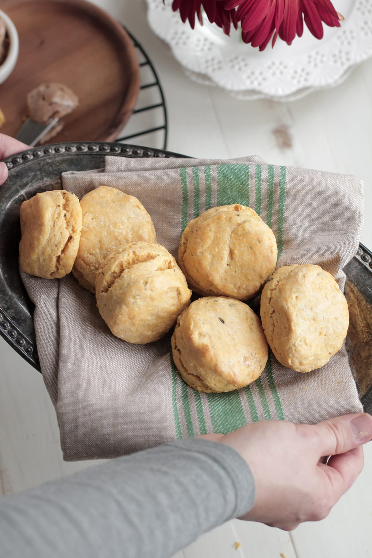 Sweet Potato Biscuits with Maple Cinnamon Butter - Live Simply