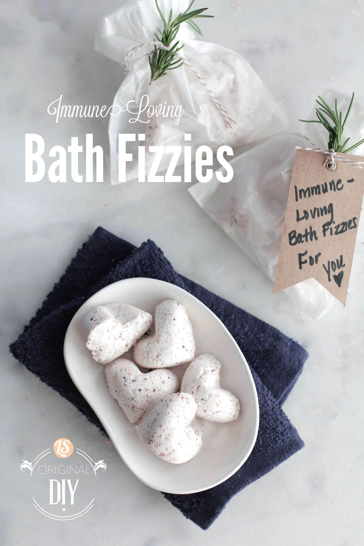 Diy Homemade Immune Loving Bath Fizzies Live Simply