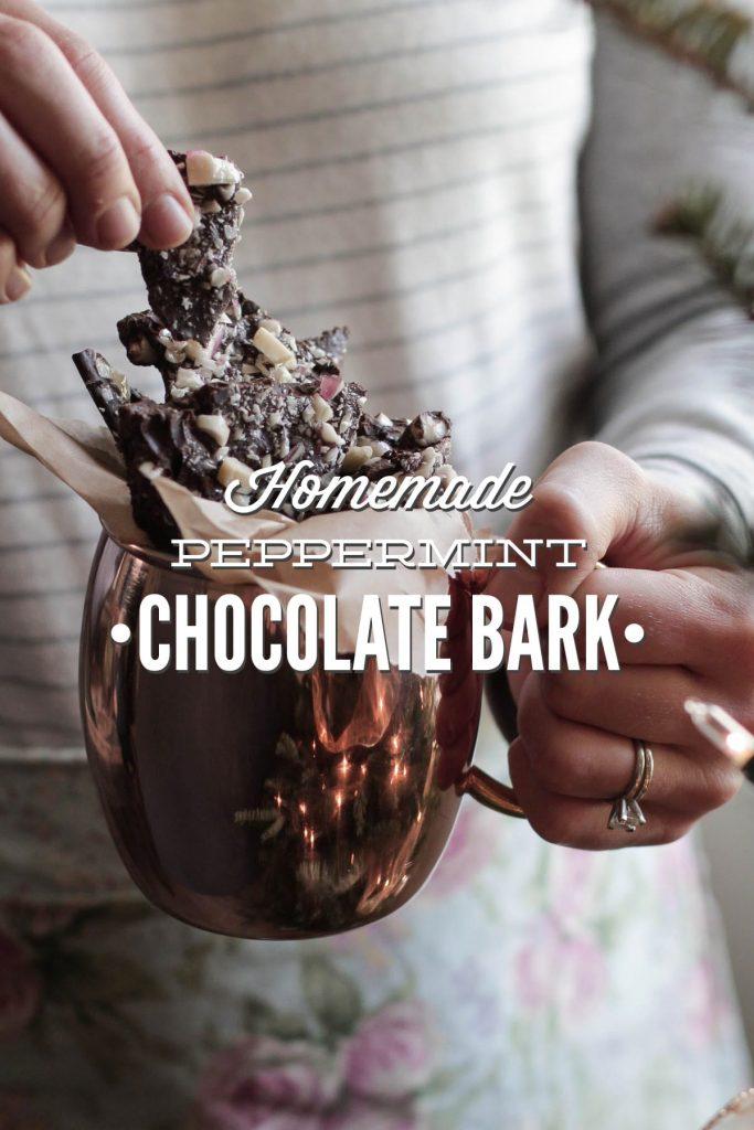 Homemade Peppermint Chocolate Bark