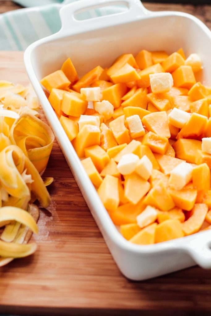 roasted butternut squash (cubes)