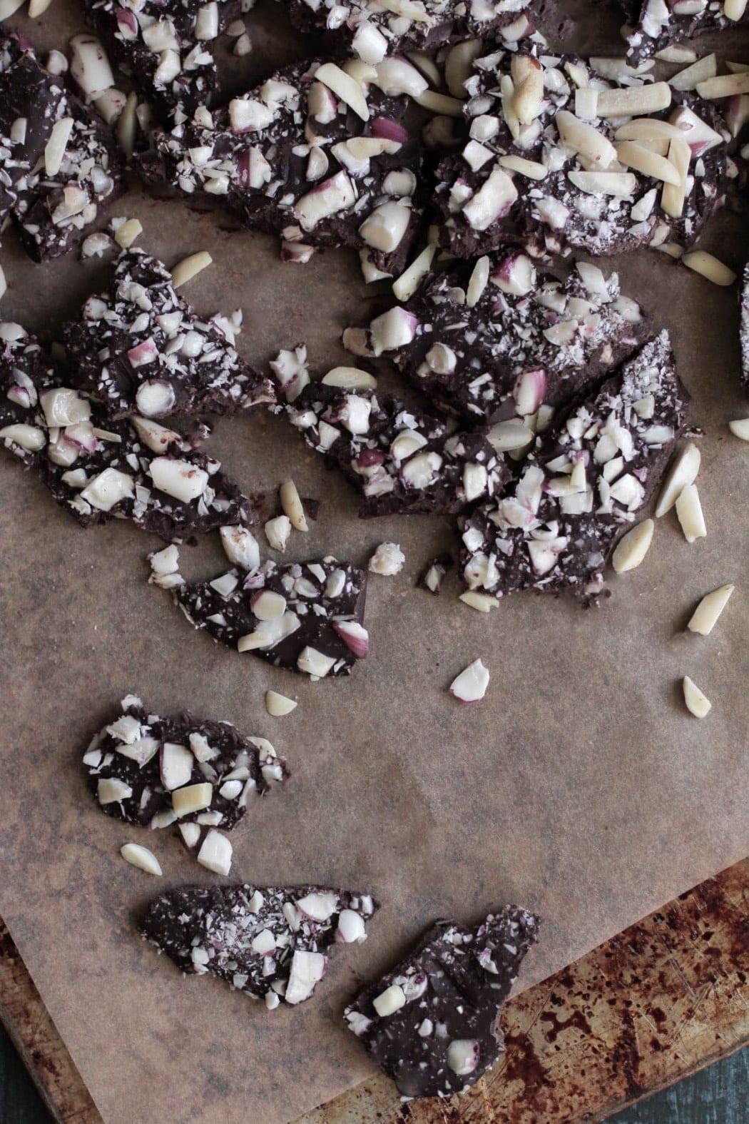 Homemade Peppermint Chocolate Bark - Live Simply